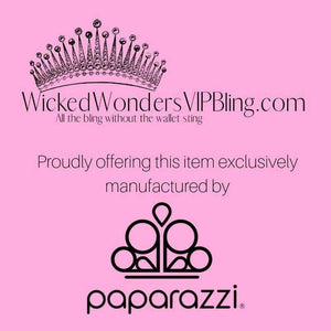 Wicked Wonders VIP Bling Bracelet Summer Extravaganza Black Hinged Cuff Bracelet Affordable Bling_Bling Fashion Paparazzi