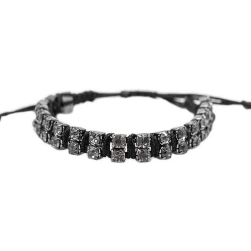 Wicked Wonders VIP Bling Bracelet Sweet Tooth Black Rhinestone Bracelet Affordable Bling_Bling Fashion Paparazzi