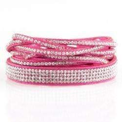 Wicked Wonders VIP Bling Bracelet Taking Care of Business Pink Snap Wrap Bracelet Affordable Bling_Bling Fashion Paparazzi