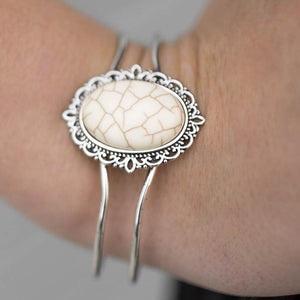 Wicked Wonders VIP Bling Bracelet The Grand Tour White Cuff Bracelet Affordable Bling_Bling Fashion Paparazzi