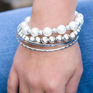 Wicked Wonders VIP Bling Bracelet The Millennial White Bangle Bracelets Affordable Bling_Bling Fashion Paparazzi