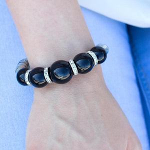 Wicked Wonders VIP Bling Bracelet The Muse Black Stretchy Bracelet Affordable Bling_Bling Fashion Paparazzi