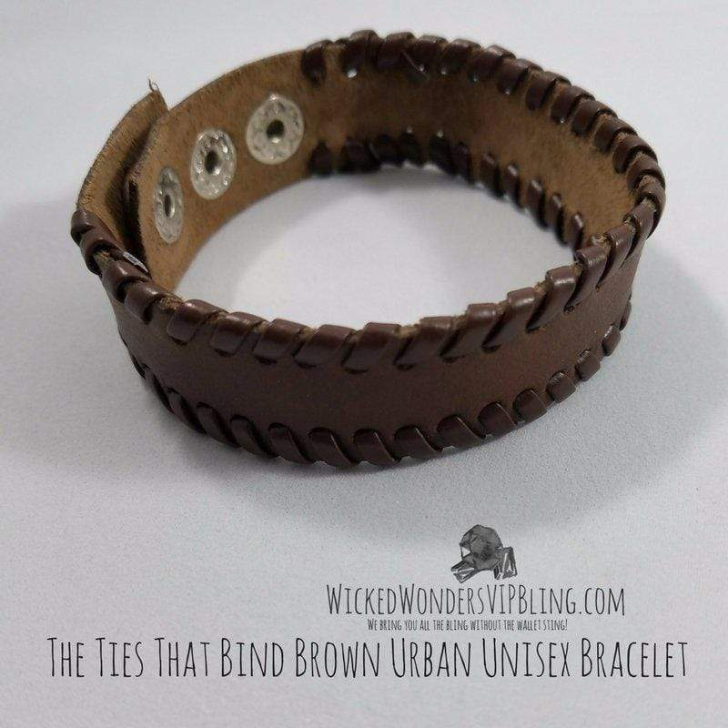 Wicked Wonders VIP Bling Bracelet The Ties That Bind Brown Urban Unisex Bracelet Affordable Bling_Bling Fashion Paparazzi