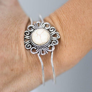 Wicked Wonders VIP Bling Bracelet Totally Off the Hinges White Cuff Bracelet Affordable Bling_Bling Fashion Paparazzi