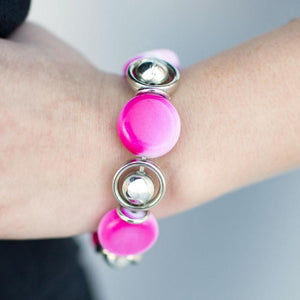 Wicked Wonders VIP Bling Bracelet Totally Toasted Pink Stretchy Bracelet Affordable Bling_Bling Fashion Paparazzi