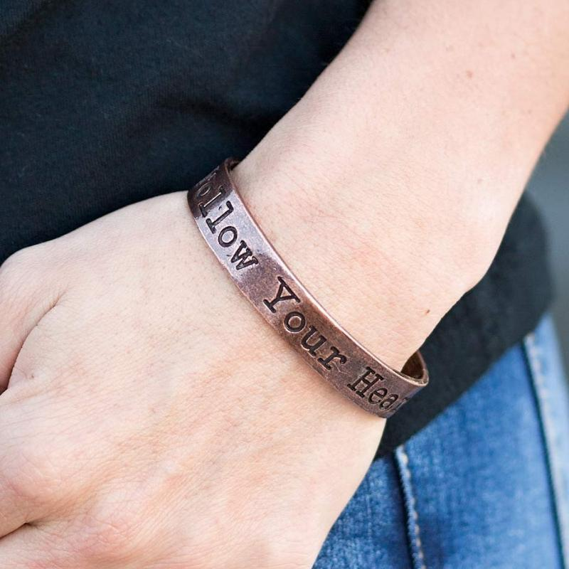 Wicked Wonders VIP Bling Bracelet Wherever Your Heart Takes You Copper Skinny Cuff Bracelet Affordable Bling_Bling Fashion Paparazzi