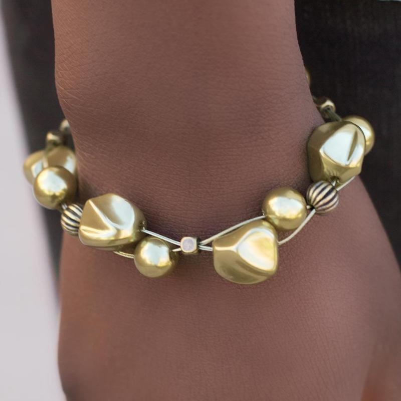 Wicked Wonders VIP Bling Bracelet Wish Me Luck Brass Bracelet Affordable Bling_Bling Fashion Paparazzi