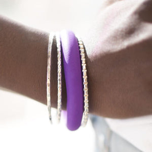 Wicked Wonders VIP Bling Bracelet WOOD I Lie to You Purple Bangle Bracelets Affordable Bling_Bling Fashion Paparazzi