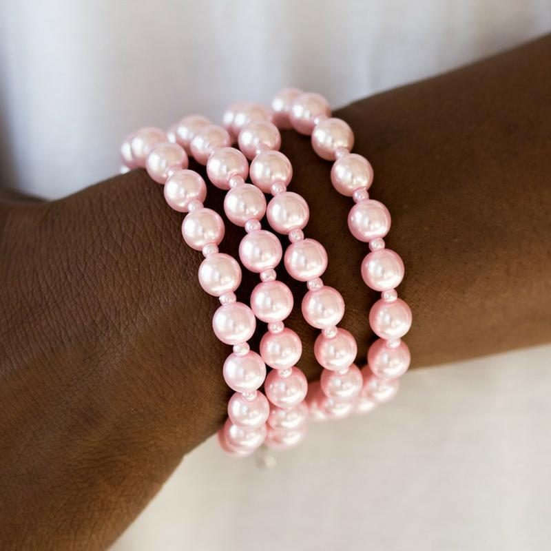 Wicked Wonders VIP Bling Bracelet Work the Ballroom Pink Bracelet Affordable Bling_Bling Fashion Paparazzi