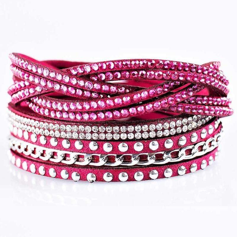 Wicked Wonders VIP Bling Bracelet Work Your Magic Pink Snap Wrap Bracelet Affordable Bling_Bling Fashion Paparazzi