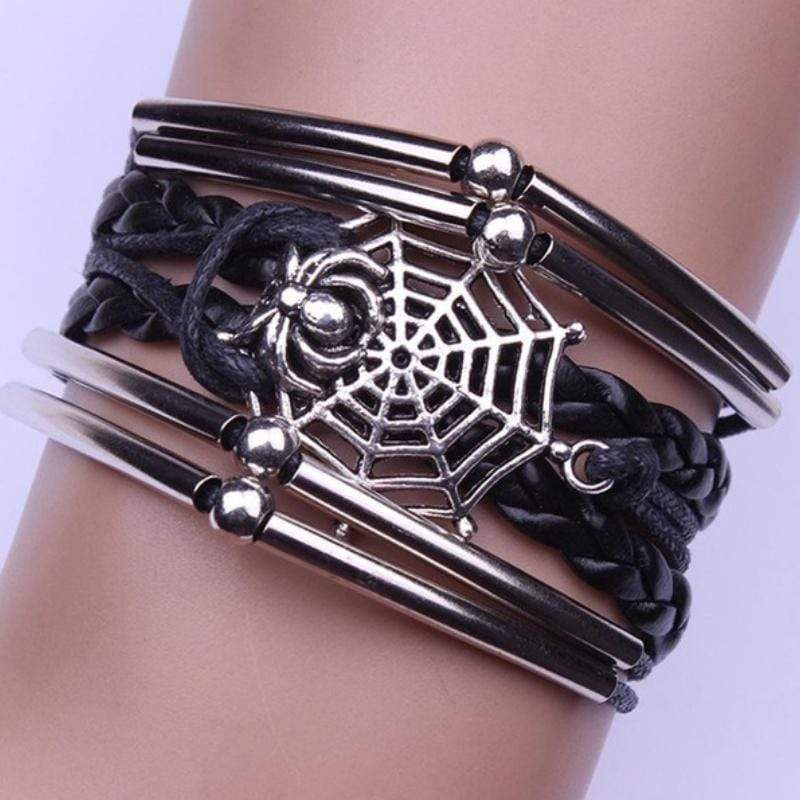 Wicked Wonders VIP Bling Bracelet Wrist Web Black Urban Bracelet Affordable Bling_Bling Fashion Paparazzi