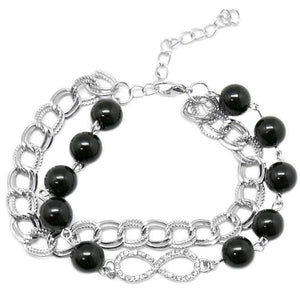 Wicked Wonders VIP Bling Bracelet You Win Some, You Lose Some Black Bracelet Affordable Bling_Bling Fashion Paparazzi