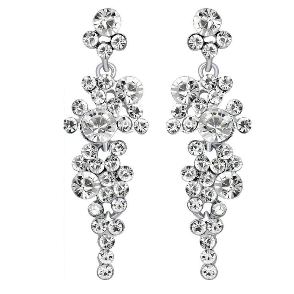 Wicked Wonders VIP Bling Bridal Bliss White Gem Statement Earrings Affordable Bling_Bling Fashion Paparazzi