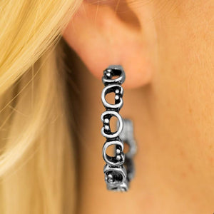Wicked Wonders VIP Bling Earrings A Big Flirt Silver Hoop Earrings Affordable Bling_Bling Fashion Paparazzi