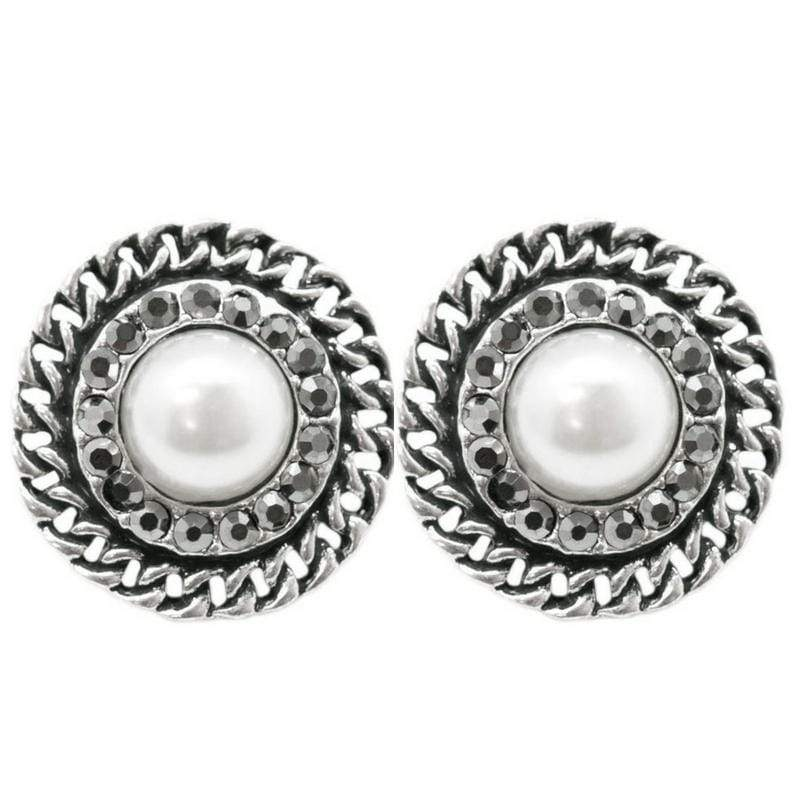 Wicked Wonders VIP Bling Earrings A Grand Gesture White Pearl Post Earrings Affordable Bling_Bling Fashion Paparazzi