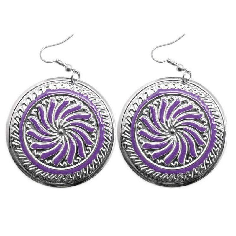 Wicked Wonders VIP Bling Earrings A Hop Skip and a Jump Purple Earring Affordable Bling_Bling Fashion Paparazzi