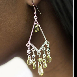 Wicked Wonders VIP Bling Earrings A Run For Your Money Green Earrings Affordable Bling_Bling Fashion Paparazzi