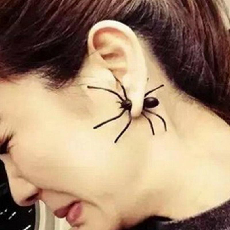 Wicked Wonders VIP Bling Earrings Along Came a Spider Black Earrings Affordable Bling_Bling Fashion Paparazzi