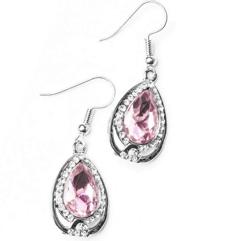 Wicked Wonders VIP Bling Earrings Anything Is POSH-ible! Pink Gem Earrings Affordable Bling_Bling Fashion Paparazzi