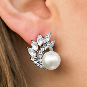 Wicked Wonders VIP Bling Earrings Arctic Blast White Post Earrings Affordable Bling_Bling Fashion Paparazzi