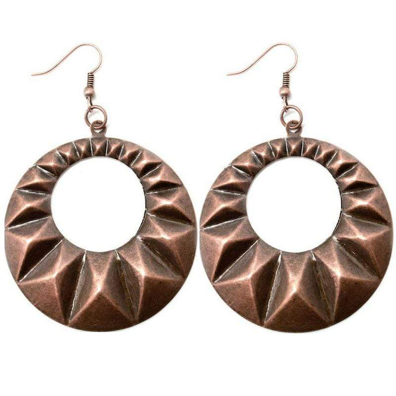 Wicked Wonders VIP Bling Earrings At First Light Copper Earring Affordable Bling_Bling Fashion Paparazzi