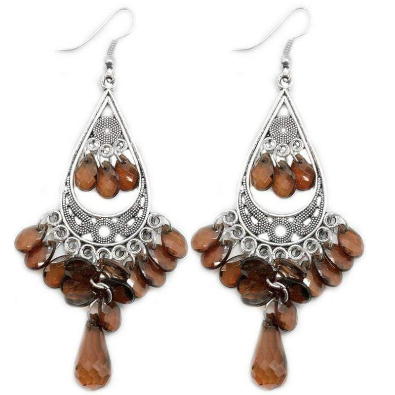 Wicked Wonders VIP Bling Earrings At Twilight Brown Earring Affordable Bling_Bling Fashion Paparazzi