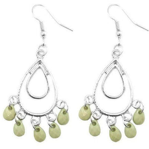 Wicked Wonders VIP Bling Earrings Bahama Mama Green Earring Affordable Bling_Bling Fashion Paparazzi