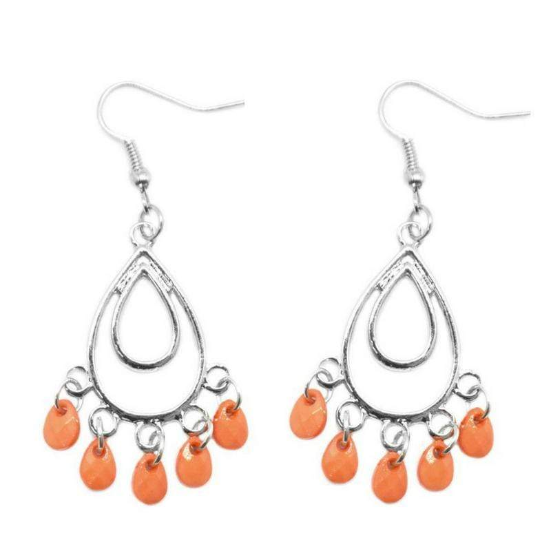 Wicked Wonders VIP Bling Earrings Bahama Mama Orange Earrings Affordable Bling_Bling Fashion Paparazzi