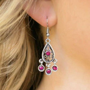 Wicked Wonders VIP Bling Earrings BEAM All You Can BEAM Pink Rhinestone Earrings Affordable Bling_Bling Fashion Paparazzi