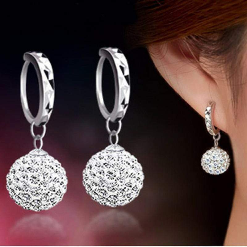 Wicked Wonders VIP Bling Earrings Belle of the Ball White Gem Earrings Affordable Bling_Bling Fashion Paparazzi