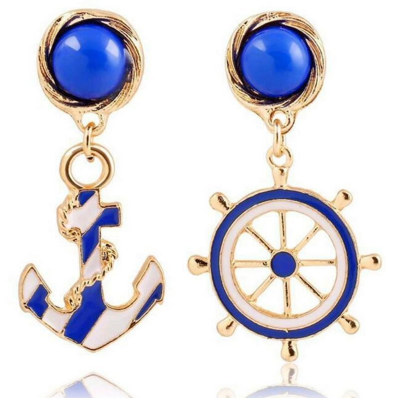 Wicked Wonders VIP Bling Earrings Beyond the Sea Mix-Matched Nautical Earrings Affordable Bling_Bling Fashion Paparazzi