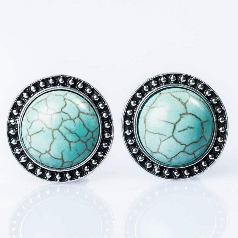 Wicked Wonders VIP Bling Earrings Big Country Blue Stone CLIP ON Earrings Affordable Bling_Bling Fashion Paparazzi