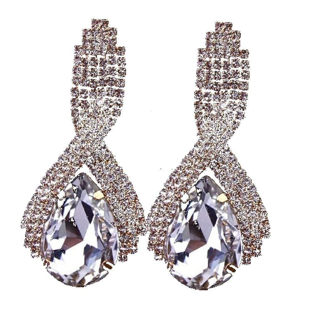 Wicked Wonders VIP Bling Earrings Big Drops of Gold Gem Statement Earrings Affordable Bling_Bling Fashion Paparazzi