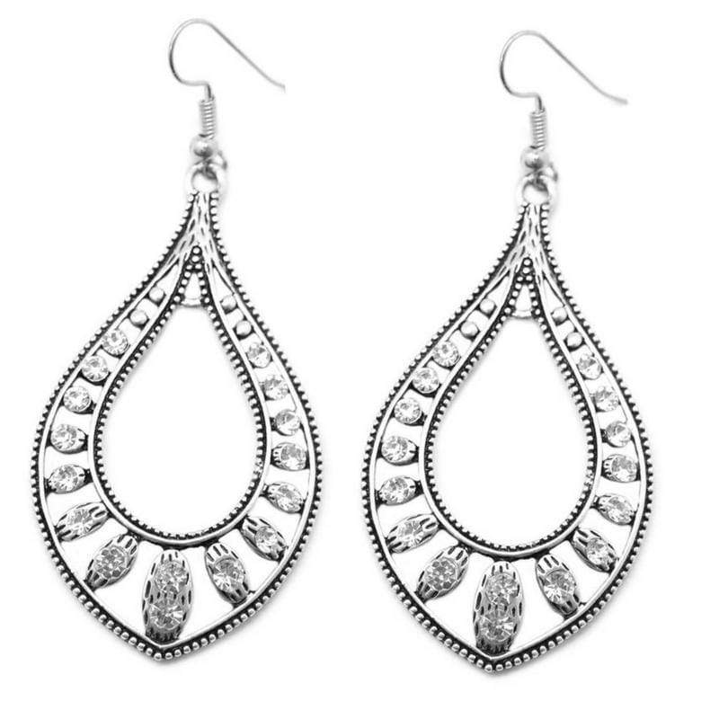 Wicked Wonders VIP Bling Earrings Big Spender White Rhinestone Earrings Affordable Bling_Bling Fashion Paparazzi
