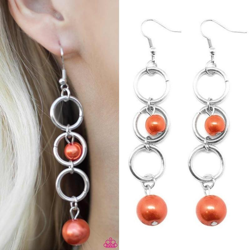 Wicked Wonders VIP Bling Earrings Blast Off Orange Earring Affordable Bling_Bling Fashion Paparazzi