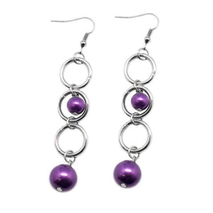 Wicked Wonders VIP Bling Earrings Blast Off Purple Earrings Affordable Bling_Bling Fashion Paparazzi