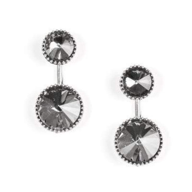 Wicked Wonders VIP Bling Earrings Bling Squad Silver Post Earrings Affordable Bling_Bling Fashion Paparazzi