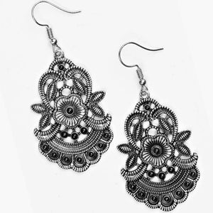 Wicked Wonders VIP Bling Earrings Blooming Bora Bora Black Earrings Affordable Bling_Bling Fashion Paparazzi