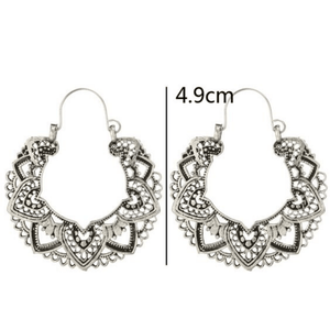 Wicked Wonders VIP Bling Earrings Boho Tribe Silver Earrings Affordable Bling_Bling Fashion Paparazzi