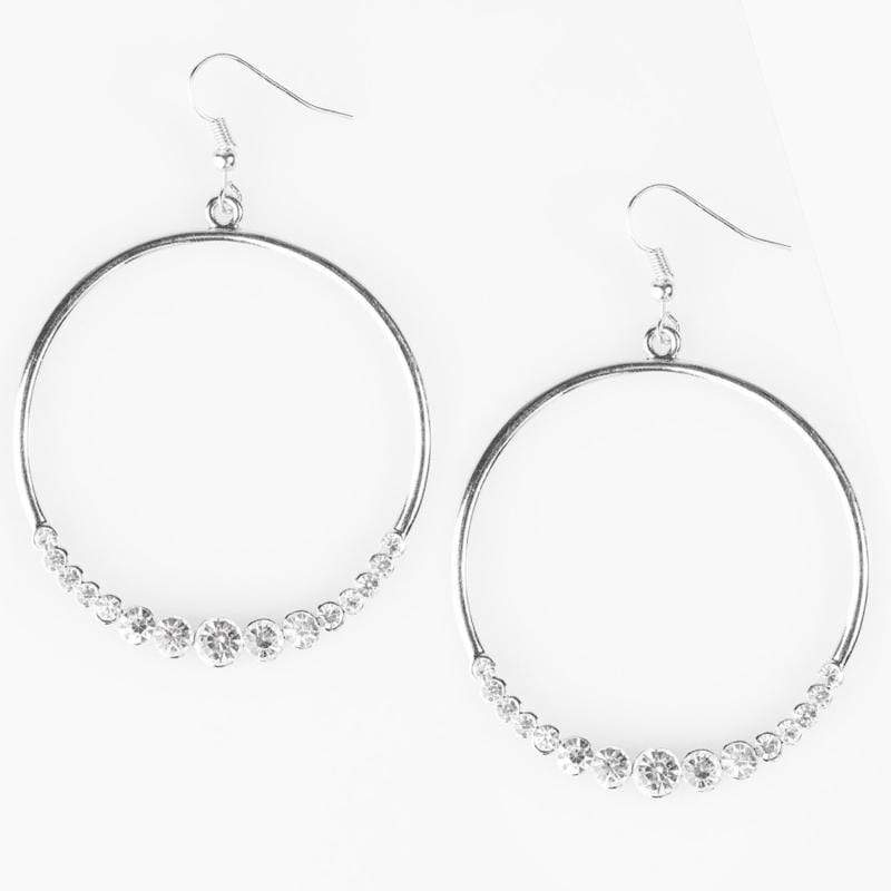 Wicked Wonders VIP Bling Earrings Cheers To You White Rhinestone Earrings Affordable Bling_Bling Fashion Paparazzi