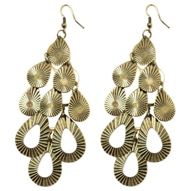 Wicked Wonders VIP Bling Earrings Climbing the Social Ladder Brass Earring Affordable Bling_Bling Fashion Paparazzi