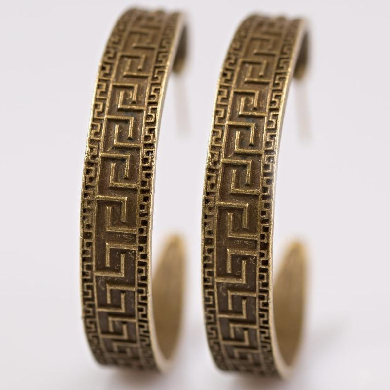 Wicked Wonders VIP Bling Earrings Conga Line Brass Hoop Earrings Affordable Bling_Bling Fashion Paparazzi