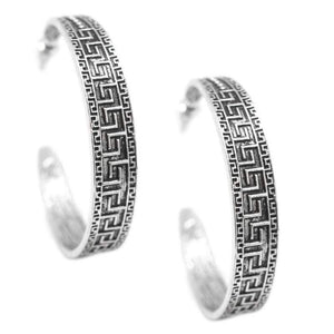 Wicked Wonders VIP Bling Earrings Conga Line Silver Hoop Earrings Affordable Bling_Bling Fashion Paparazzi