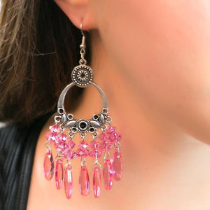 Wicked Wonders VIP Bling Earrings Date Night Pink Earrings Affordable Bling_Bling Fashion Paparazzi