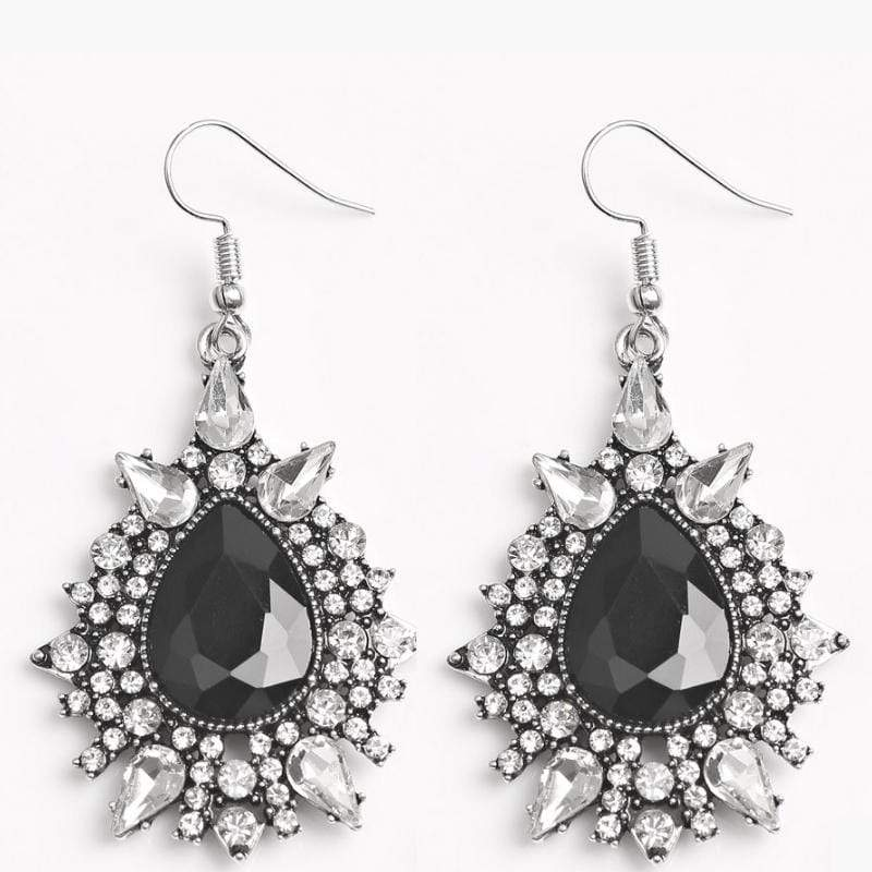 Wicked Wonders VIP Bling Earrings Diva Decor Super Bling Black Gem Earrings Affordable Bling_Bling Fashion Paparazzi