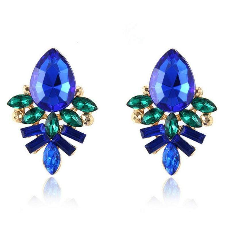Wicked Wonders VIP Bling Earrings Drop It Like Its Hot Blue Gem Earrings Affordable Bling_Bling Fashion Paparazzi