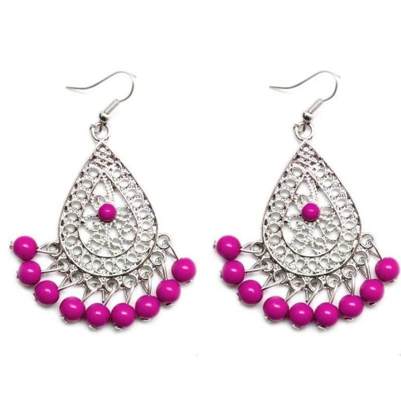 Wicked Wonders VIP Bling Earrings Drops of Inspiration Purple Earring Affordable Bling_Bling Fashion Paparazzi