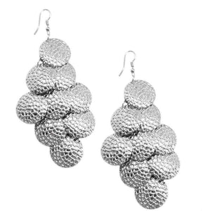 Wicked Wonders VIP Bling Earrings Earth Shattering Silver Earring Affordable Bling_Bling Fashion Paparazzi