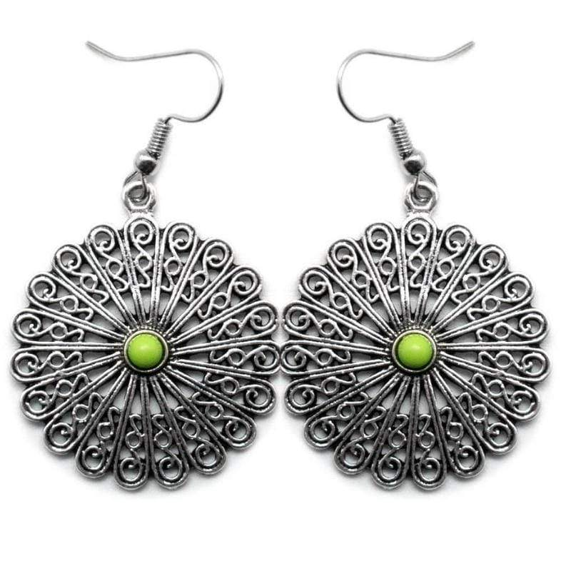Wicked Wonders VIP Bling Earrings Everybody Mambo Green Earring Affordable Bling_Bling Fashion Paparazzi
