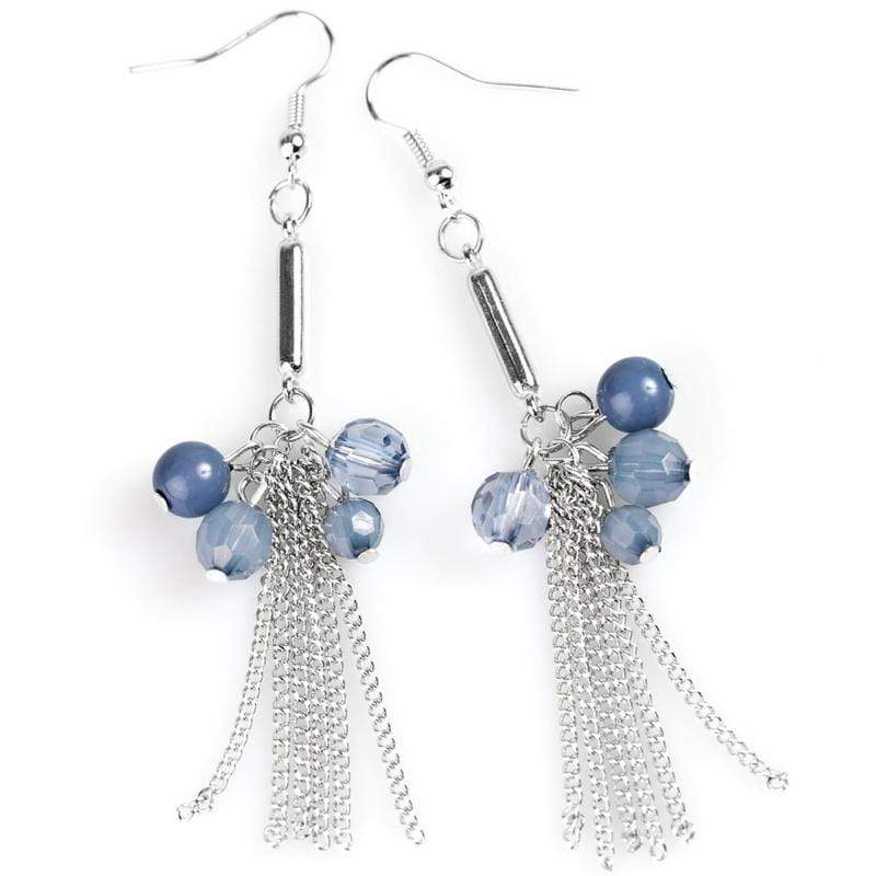 Wicked Wonders VIP Bling Earrings Excited to BEAD Here Blue Earrings Affordable Bling_Bling Fashion Paparazzi